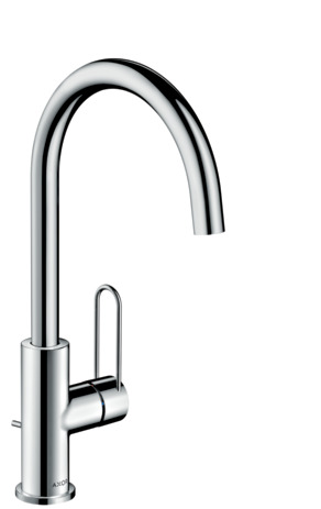 Single lever basin mixer 240 with loop handle and pop-up waste set