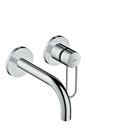 Single lever basin mixer for concealed installation wall-mounted with loop handle and spout 165 mm