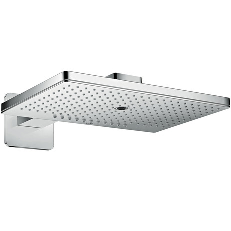 Overhead shower 460/300 3jet with shower arm and softcube escutcheon