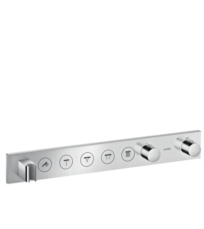 Thermostatic module Select 670/90 for concealed installation for 5 outlets