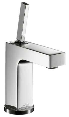 Single lever basin mixer 110 with pin handle and pop-up waste