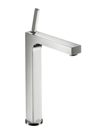 Single lever basin mixer 280 with pin handle for washbowls with pop-up waste