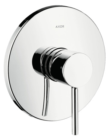 Single lever manual shower mixer for concealed installation with pin handle