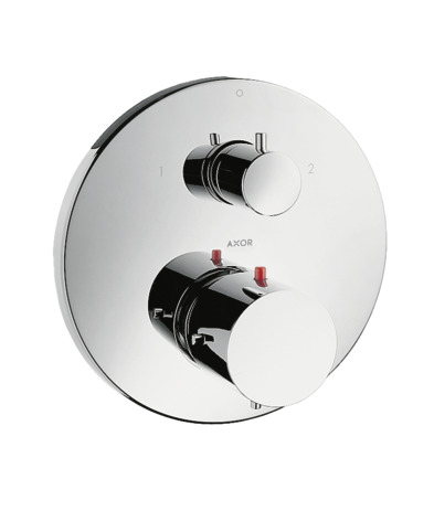 Thermostatic mixer for concealed installation with shut-off / diverter valve