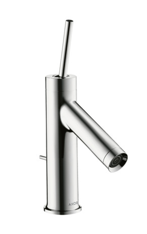 Single lever basin mixer 70 with pin handle for cloakroom basins with pop-up waste