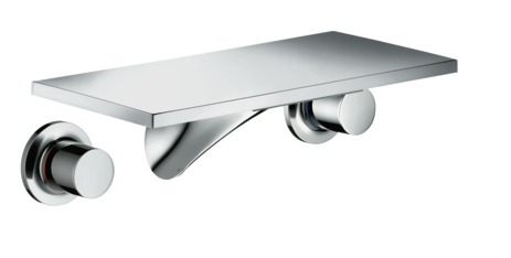 3-hole basin mixer for concealed installation wall-mounted with spout 170 mm