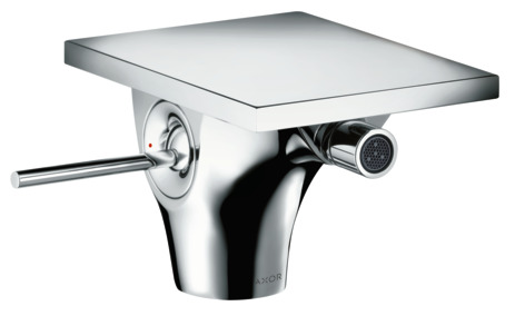 Single lever bidet mixer with pop-up waste