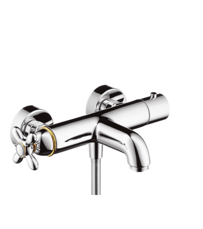 Thermostatic bath and shower mixer for exposed installation