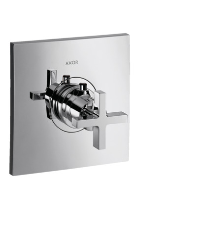 Thermostatic mixer HighFlow for concealed installation with cross handle