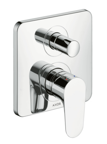Single lever manual bath mixer for concealed installation with integrated backflow prevention
