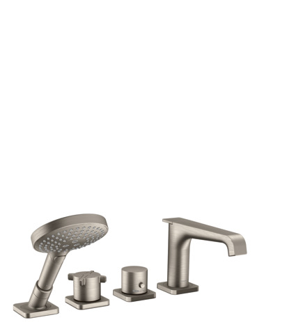 4-hole rim-mounted thermostatic bath mixer