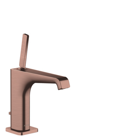Single lever basin mixer 130 with pin handle and pop-up waste
