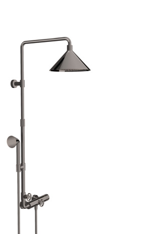 Showerpipe with thermostatic mixer and 2jet overhead shower 240