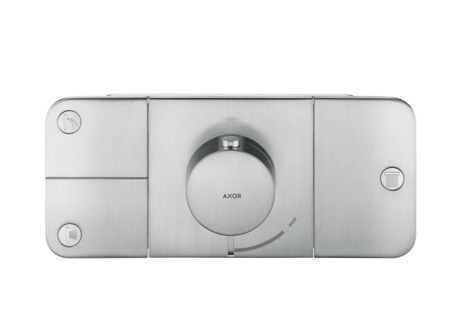 Thermostatic module for concealed installation for 3 functions