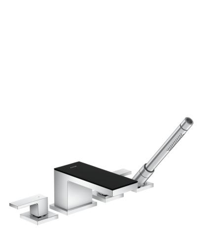 axor myedition wannenarmaturen 2 verbraucher chrom schwarzglas 47430600. Black Bedroom Furniture Sets. Home Design Ideas