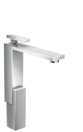 Single lever basin mixer 280 with push-open waste set - diamond cut