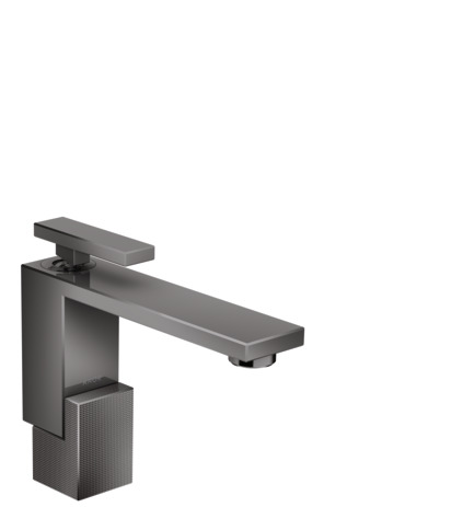 Single lever basin mixer 130 with push-open waste set - diamond cut