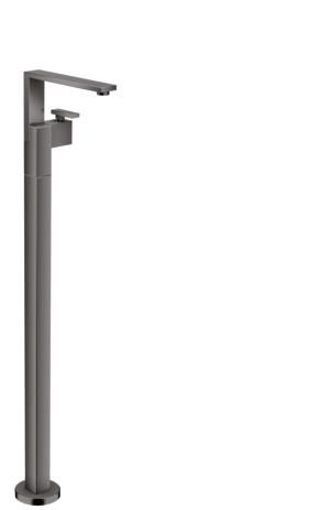 Single lever basin mixer floor-standing with push-open waste set - diamond cut