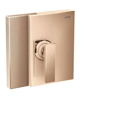 Single lever shower mixer for concealed installation - diamond cut