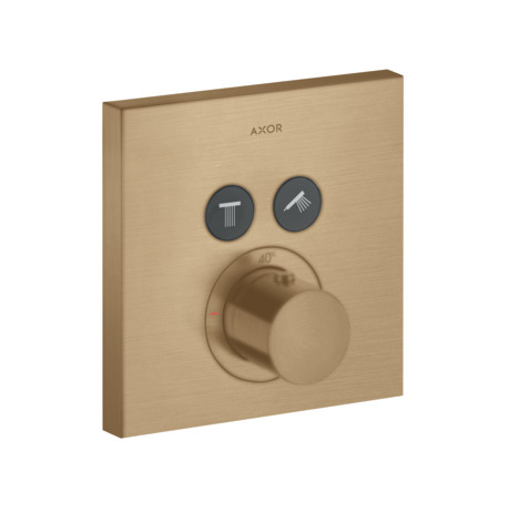 Thermostatique ShowerSelect Square encastré pour 2 fonctions
