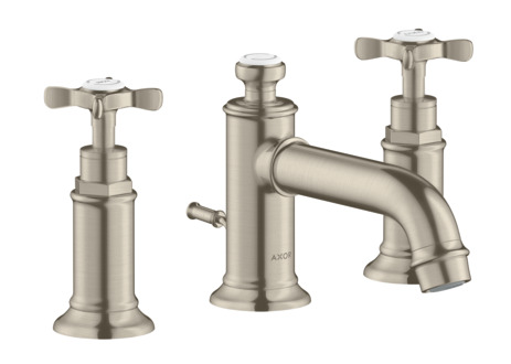 3-hole basin mixer 30 with cross handles and pop-up waste