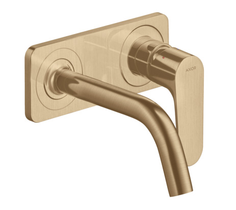 Single lever basin mixer for concealed installation wall-mounted with spout 167 mm and plate