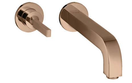 Single lever basin mixer for concealed installation wall-mounted with pin handle, spout 220 mm and escutcheons