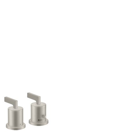 2-hole rim-mounted thermostatic bath mixer with lever handles