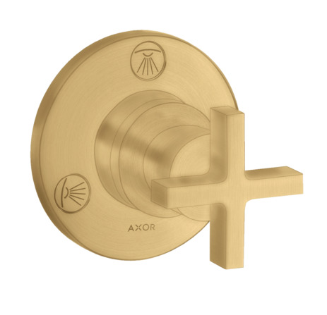 Shut-off / diverter valve Trio / Quattro finish set with cross handle