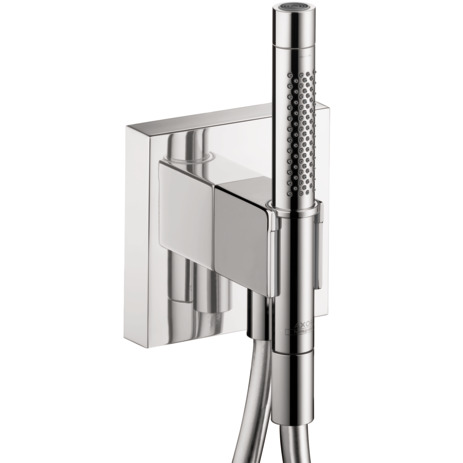 "Handshower Holder with Outlet 5"" x 5"" with Handshower, 1.75 GPM"