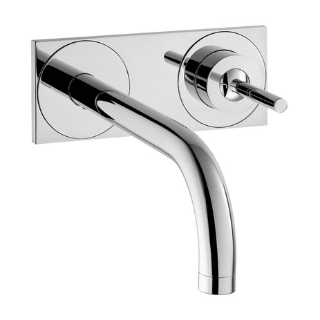 AXOR Uno Wall-Mounted Single-Handle Faucet Trim with Base Plate, 1.2 GPM