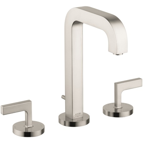 Widespread Faucet 170 with Lever Handles and Pop-Up Drain, 1.2 GPM