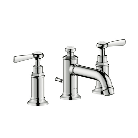 Widespread Faucet 30 with Lever Handles and Pop-Up Drain, 1.2 GPM