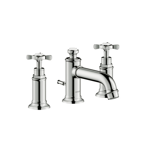 Widespread Faucet 30 with Cross Handles and Pop-Up Drain, 1.2 GPM
