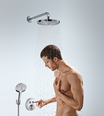 Overhead shower 240 2jet EcoSmart 9 l/min with shower arm