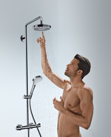 Showerpipe 180 2jet with thermostatic shower mixer