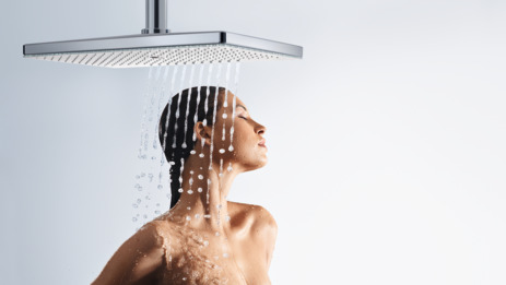 Overhead shower 460 1jet EcoSmart 9 l/min with ceiling connector