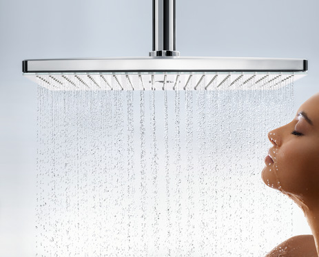 Overhead shower 460 3jet EcoSmart 9 l/min with ceiling connector