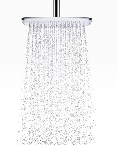 Overhead shower 400 1jet with ceiling connector