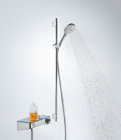 Shower set 120 3jet EcoSmart 9 l/min with shower bar 90 cm and soap dish