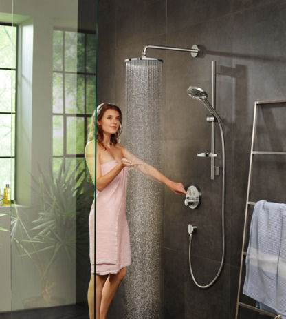 Overhead shower 240 1jet PowderRain with shower arm