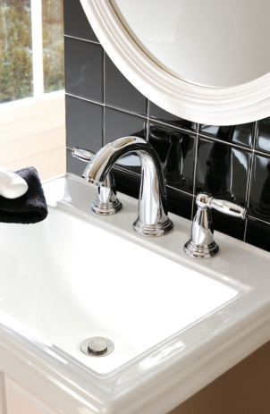 Widespread Faucet with Pop-Up Drain, 1.2 GPM