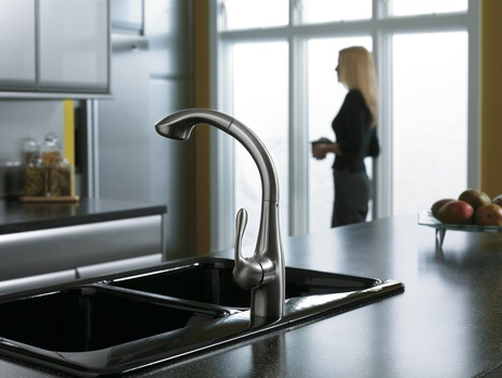 SemiArc Kitchen Faucet, 2-Spray Pull-Out, 1.75 GPM