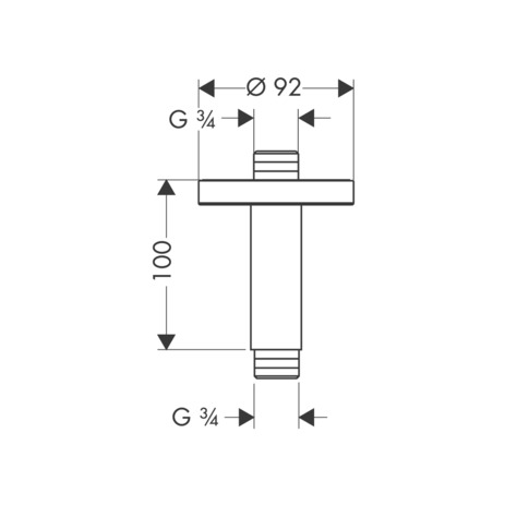 Ceiling connector 100 mm