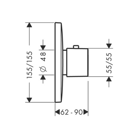 Thermostat HighFlow Unterputz