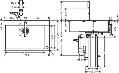 C71-F660-08 Sink combination 660