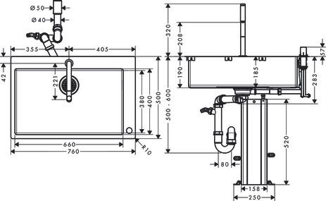 hansgrohe Sink combinations (bundle): C71, C71-F660-08