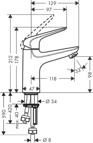 novus waschtischmischer chrom 71036000. Black Bedroom Furniture Sets. Home Design Ideas