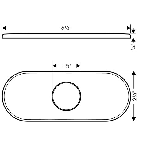 Base Plate for Traditional Single-Hole Faucets, 6""