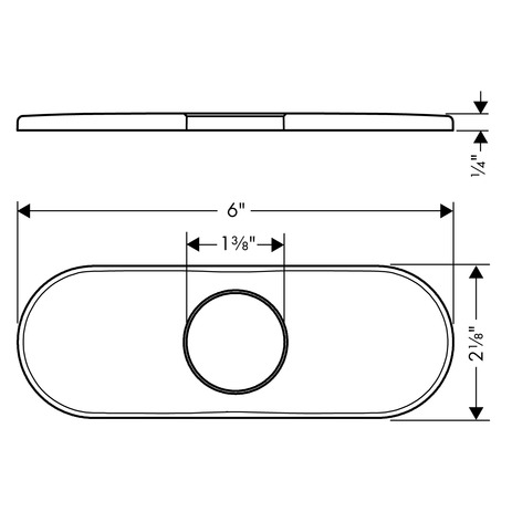 Base Plate for Contemporary Single-Hole Faucets, 6""